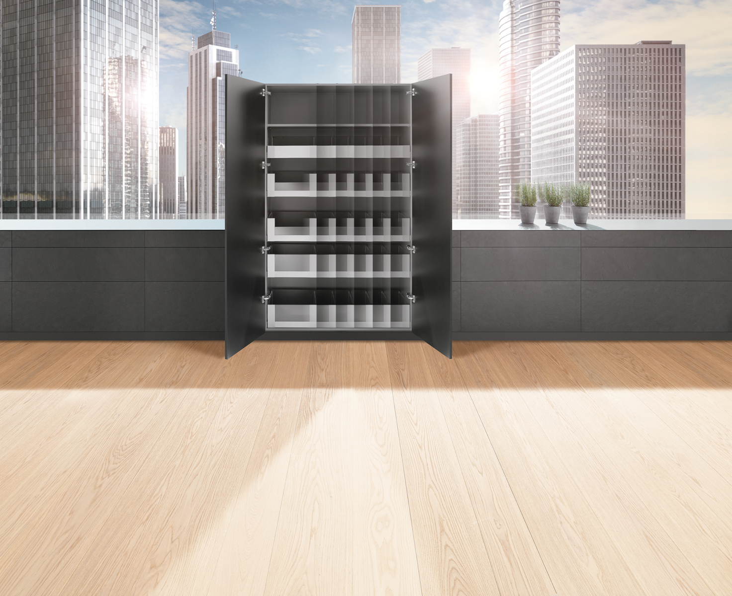 Функціональні шафки дають змогу правильно використати корисний простір
